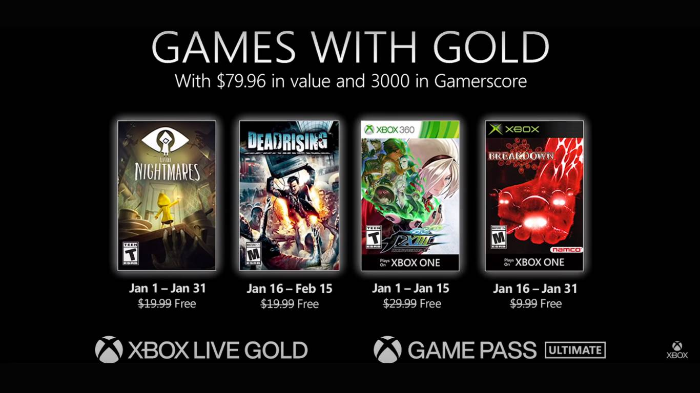 Xbox Games With Gold Enero 2021