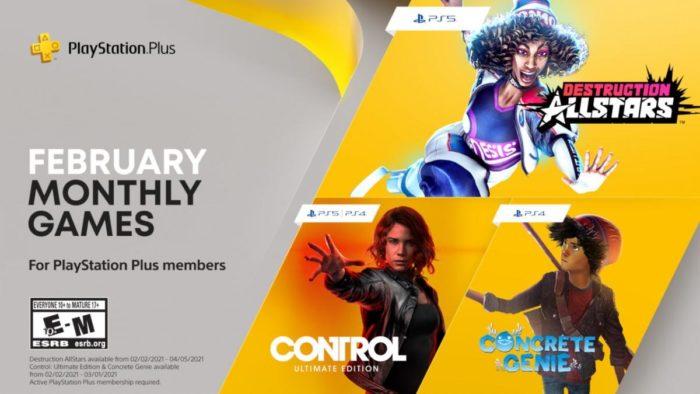PS Plus: juegos gratis para febrero 2021