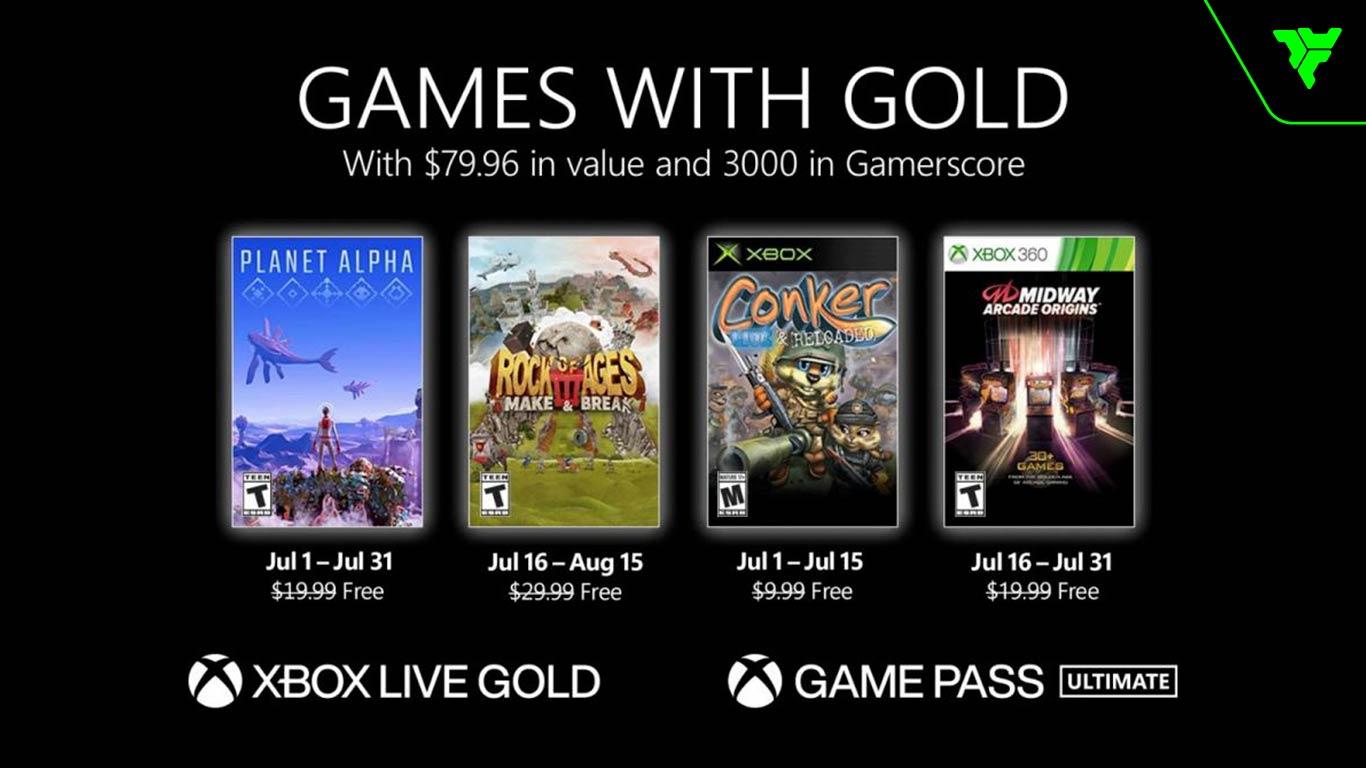 xbox games with gold juegos gratis julio 2021 volk games